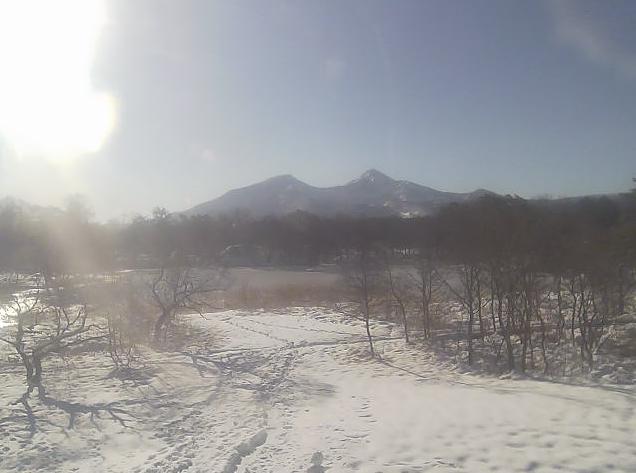裏磐梯サイトステーションから裏磐梯レンゲ沼・磐梯山
