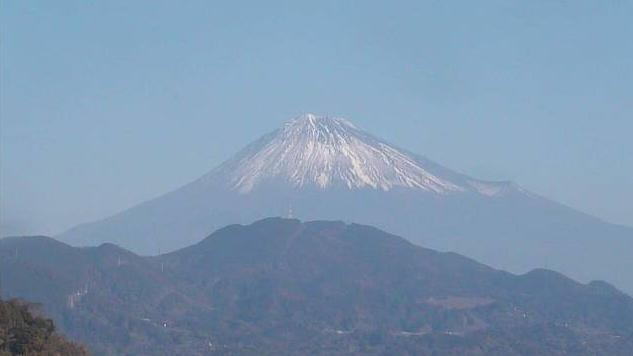 薩埵峠(さったとうげ)から富士山全景・富士山頂