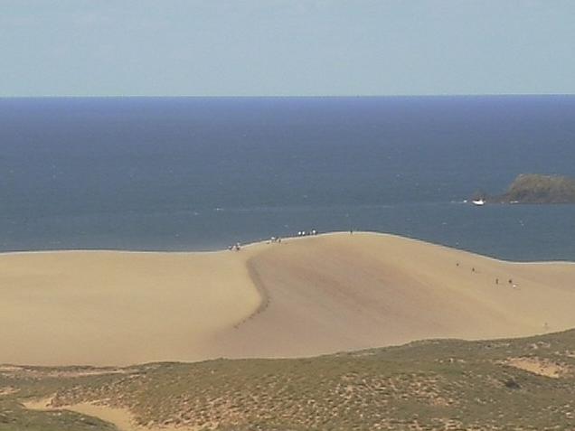 鳥取ゴルフ倶楽部から鳥取砂丘