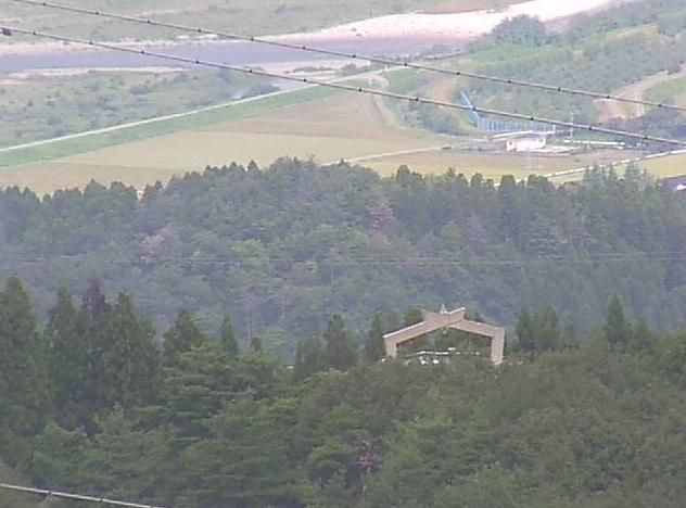 鉢伏山から散居村風景