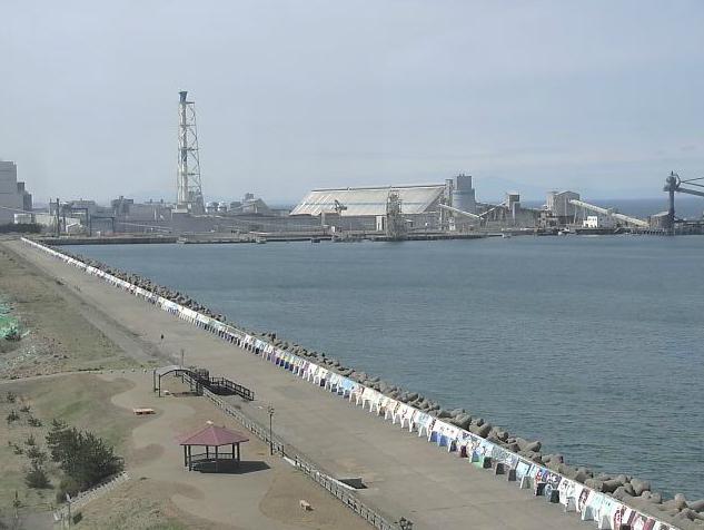 はまなす展望台から能代火力発電所・はまなす画廊・能代ロケット実験場・能代風力発電所・はまなす画廊・岸壁