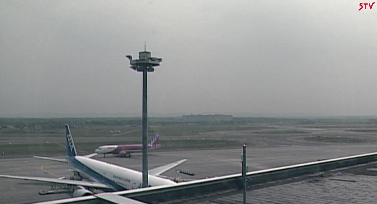 新千歳空港ターミナル屋上から滑走路
