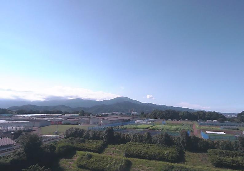 神奈川県農業技術センターから大山が見えるライブカメラ。