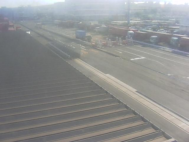 本牧ふ頭BCコンテナターミナルからBC1ゲート前
