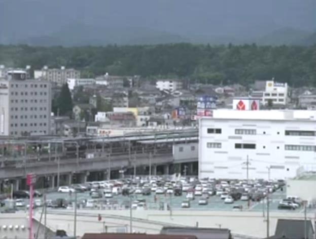 福知山市役所屋上から福知山駅方面