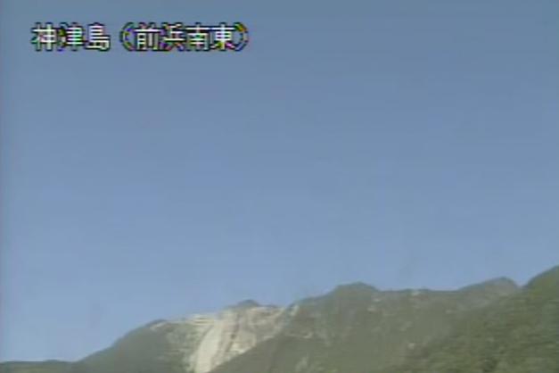 前浜南東から神津島(天上山)