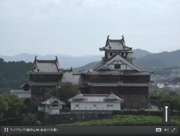 福知山市役所屋上から福知山城・由良川方面