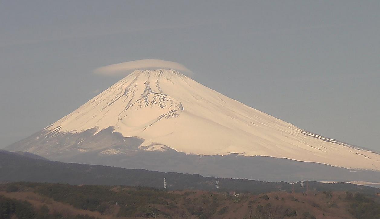 裾野市役所から富士山