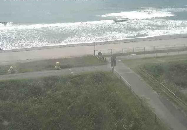 袋井市海岸監視から遠州灘