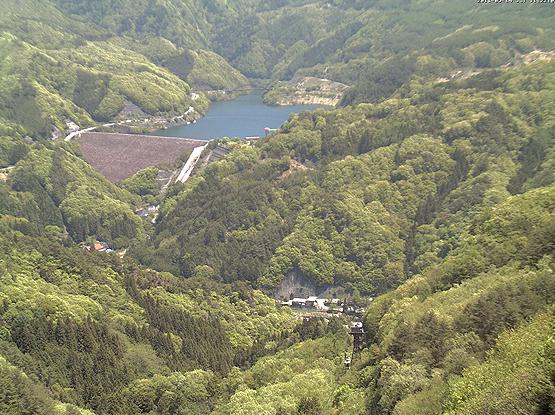 昇仙峡ロープウェイ山頂パノラマ台駅から荒川ダム・能泉湖