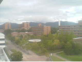 広島大学東広島キャンパス本部棟屋上からキャンパス北部