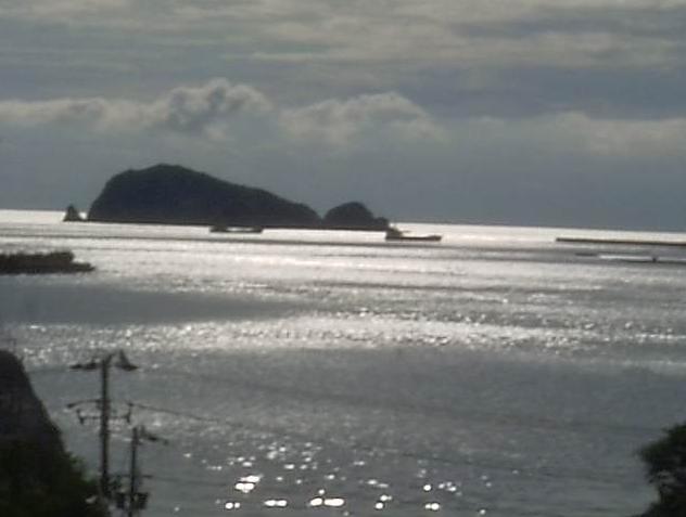 由良町役場から由良湾・蟻島