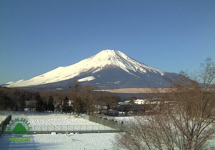 グリーンヒルズニューみなみ2階から富士山