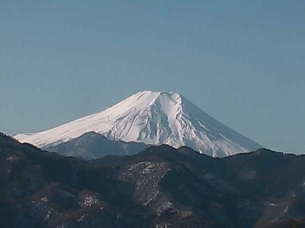 大月エコの里から富士山