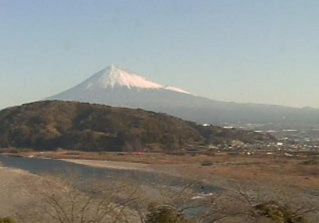 道の駅富士川楽座から富士山・富士川
