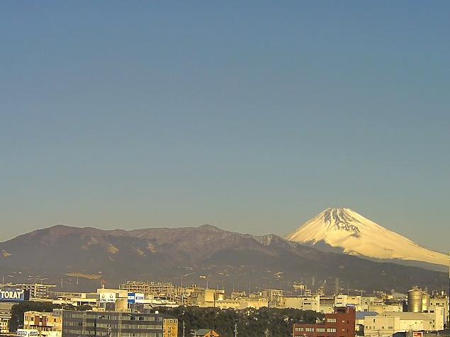 三島新聞堂ビル屋上から富士山