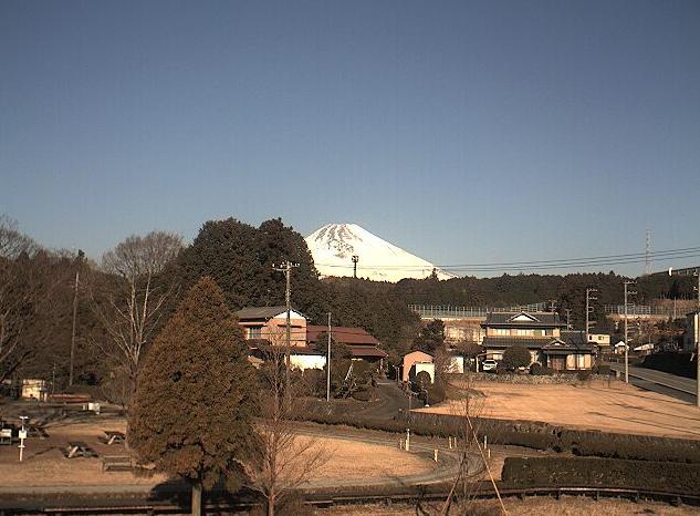 日本庭園鉄道から富士山
