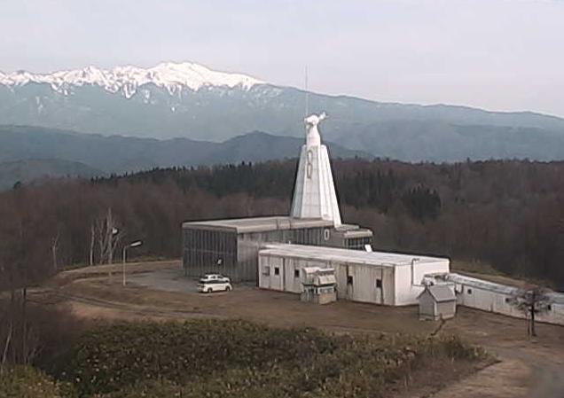 京都大学飛騨天文台研究棟屋上から太陽磁場活動望遠鏡SMART・65cm屈折望遠鏡・ドームレス太陽望遠鏡・北アルプス