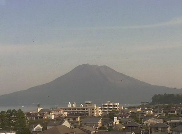 垂水市役所から桜島