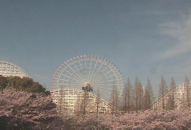 ナガシマスパーランドからホワイトサイクロン・大観覧車オーロラ・桜