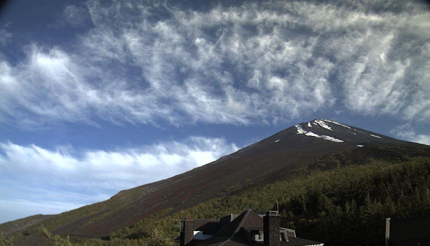 富士山5合目から富士山山頂