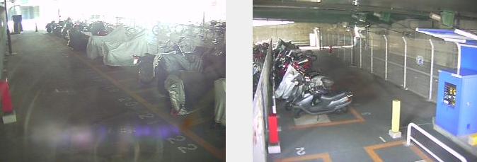 椎名橋北オートバイ専用駐車場