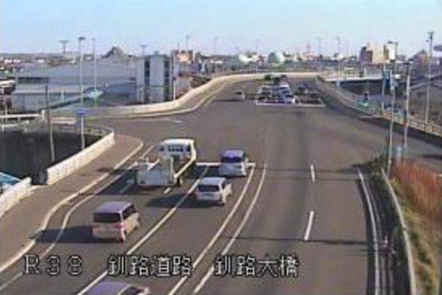 釧路大橋付近から国道38号