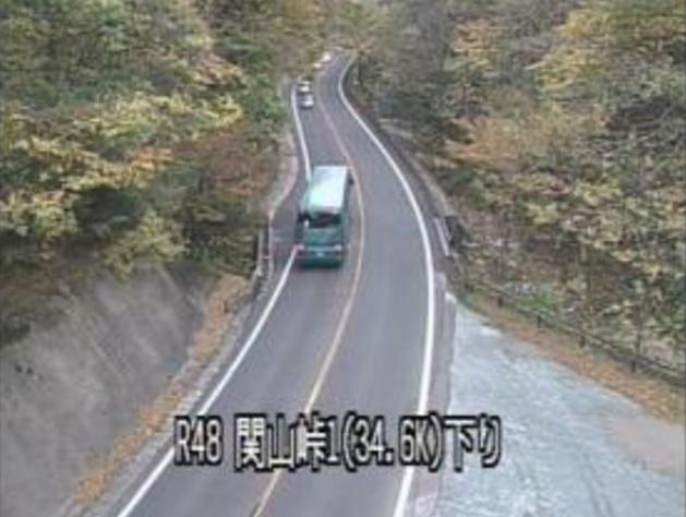 関山峠から国道48号