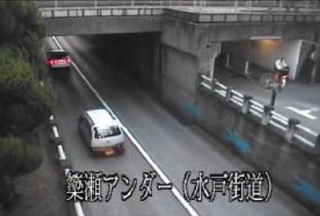 県道宇都宮笠間線から簗瀬アンダー(水戸街道)