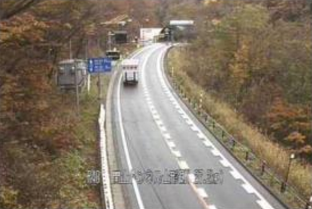 関山トンネル山形坑口から国道48号(関山街道)