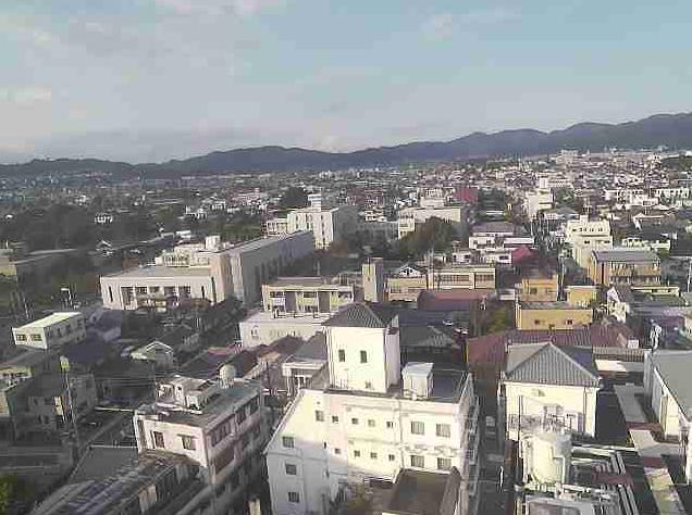 上土商店街タワー駐車場屋上から松本市内・松本城・乗鞍岳・常念岳