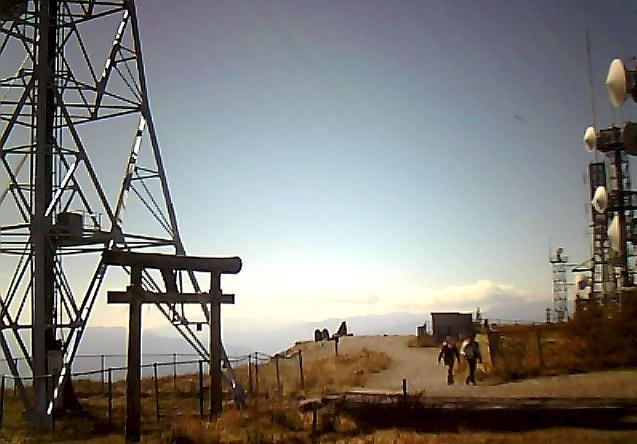 王ケ頭山頂から日本アルプス