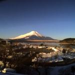 山中湖白銀荘富士山ライブカメラ(山梨県山中湖村平野)