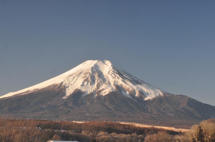 忍野八海から富士山