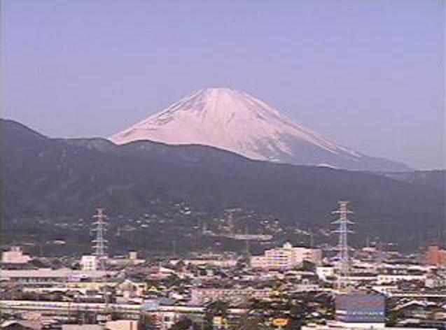 小田原市民会館から富士山・鴨宮方面