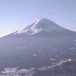 新道峠富士山ライブカメラ(山梨県笛吹市)