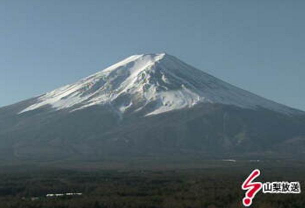 山梨放送富士吉田支社から富士山