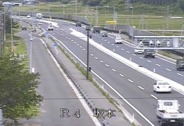 坂本から国道4号が見えるライブカメラ。