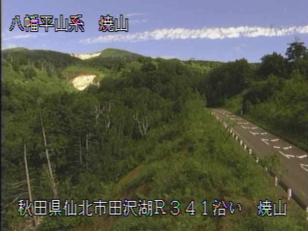 秋田焼山から八幡平山系(秋田県側)が見えるライブカメラ。