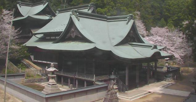 箸蔵寺から本殿・五大明王・桜