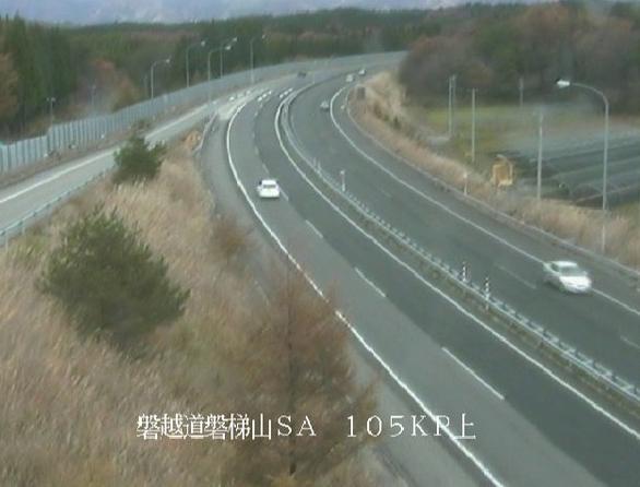磐梯山SAから磐越自動車道(磐越道)