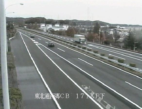 西郷チェーン脱着場から東北自動車道(東北道)