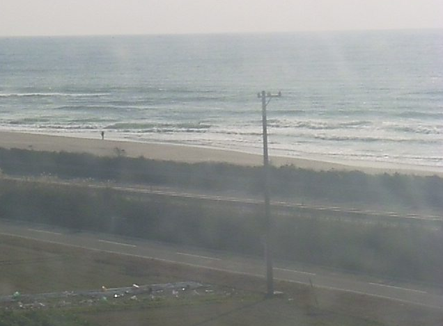 道の駅潮見坂から国道1号・遠州灘・太平洋