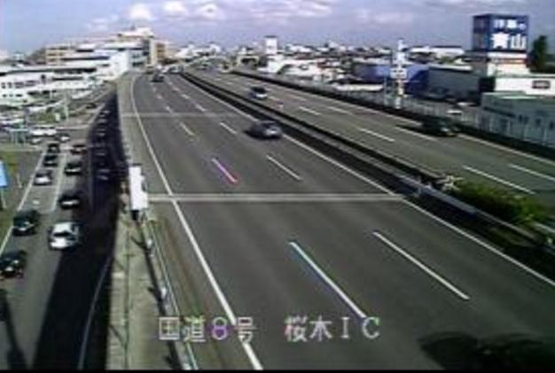 国道8号桜木インターチェンジライブカメラは、新潟県新潟市中央区の桜木インターチェンジ(桜木IC)に設置された国道8号(新潟バイパス)が見えるライブカメラです。