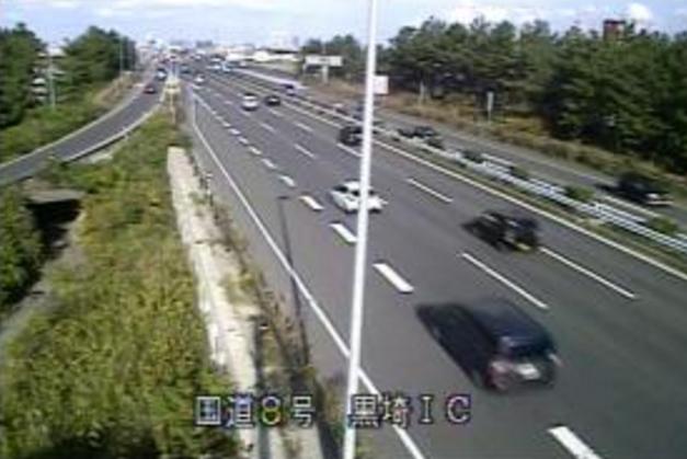 国道8号黒埼インターチェンジライブカメラは、新潟県新潟市西区の黒埼インターチェンジ(黒埼IC)に設置された国道8号(新潟バイパス)が見えるライブカメラです。