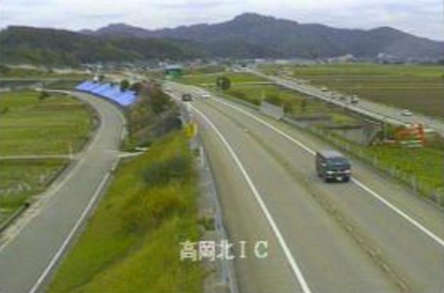 高岡北インターチェンジから国道470号