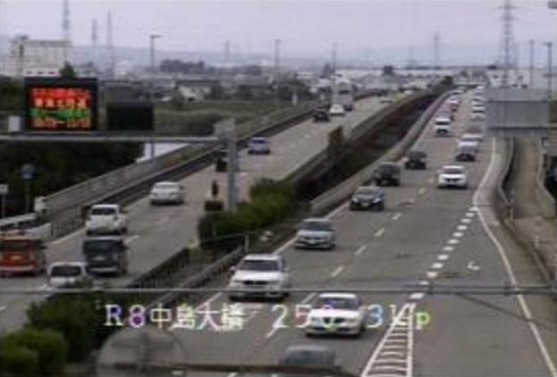 中島大橋から国道8号