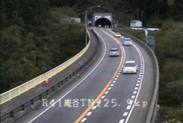 庵谷トンネルから国道41号