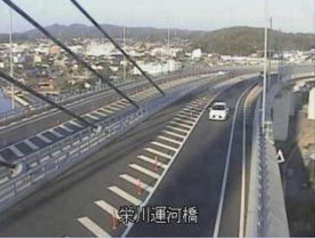 栄川運河橋から山口県道6号山口宇部線