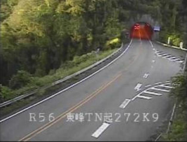 犬寄峠東峰トンネル起点から国道56号